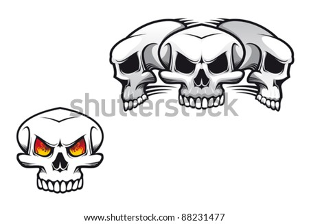 Danger skulls as a tattoo or evil concept. Jpeg version also available in gallery