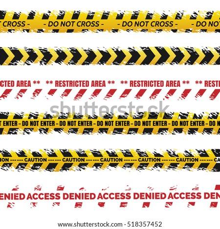 danger tapes set vector  ...