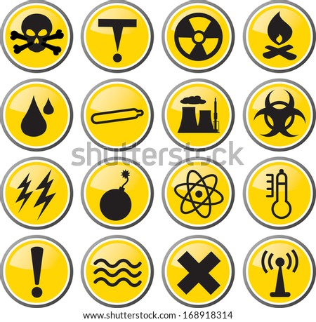 Warning And Hazard Icons Download Free Vector Art Stock Graphics