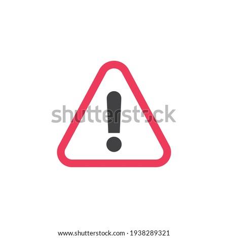 Danger traffic sign flat icon, vector sign, colorful pictogram isolated on white. Symbol, logo illustration. Flat style design