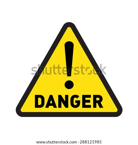 danger vector sign