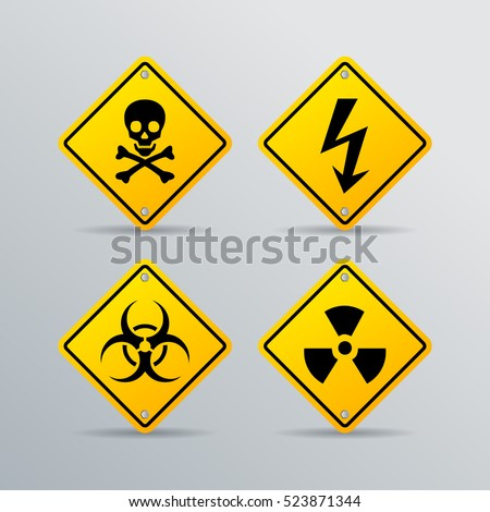 danger vector sign set isolated