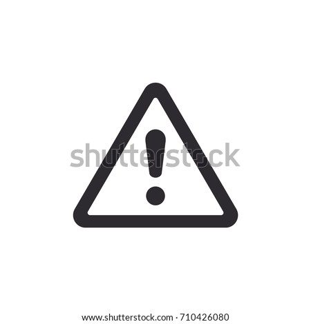 Danger warning icon. / danger warning - Vector icon. Risk sign.
