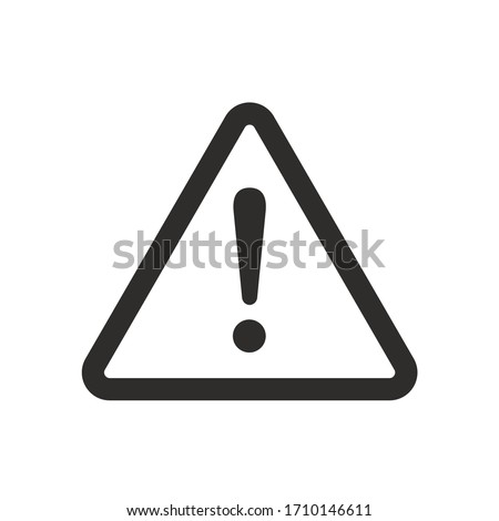 Danger warning icon. Danger warning - Vector icon. Risk sign. Information sign. Exclamation icon