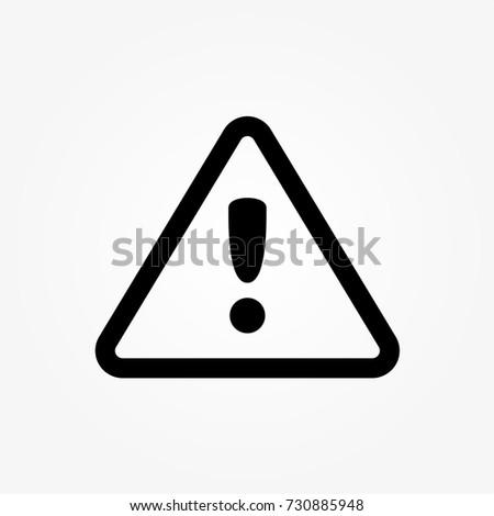 danger warning icon vector
