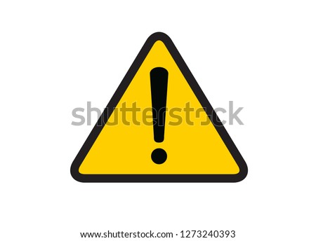 Danger warning sign, attention sign. Vector illustration. on white background