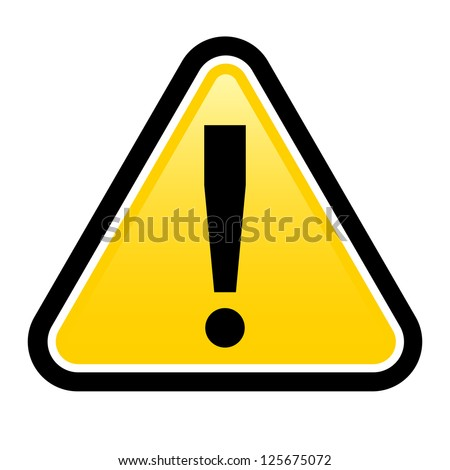 Danger warning sign.  render exclamation mark.  Illustration on white background for design