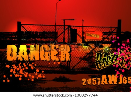 danger zone background