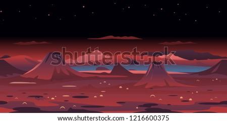 dangerous planet with volcanoes
