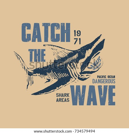 dangerous shark illustration...