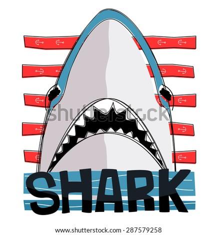 dangerous shark in striped