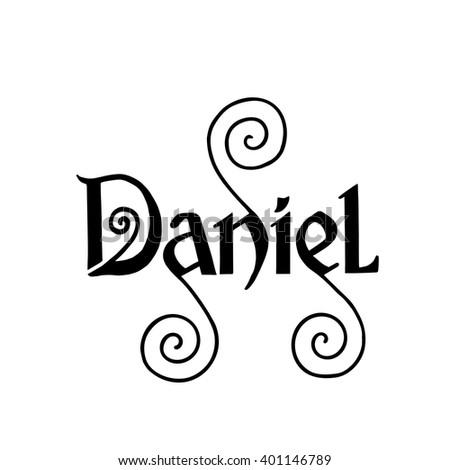 daniel  handmade lettering