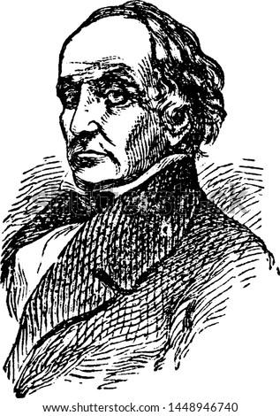 Daniel Webster, vintage engraved illustration