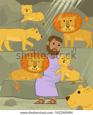 daniel with lions   cute
