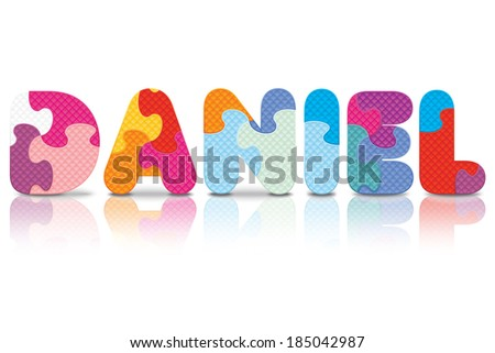 daniel written with alphabet