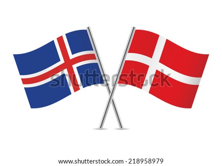 danish and icelandic flags