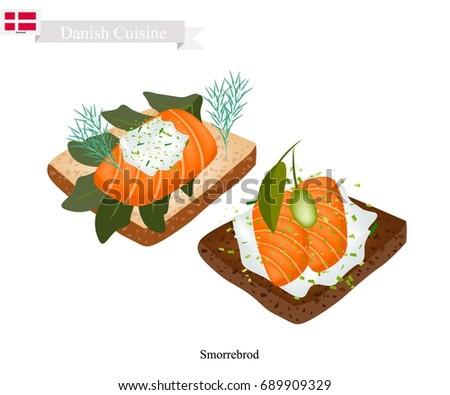 danish cuisine  illustration of
