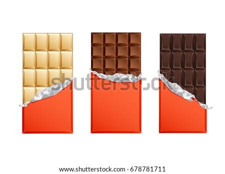 dark and milk candy chocolate