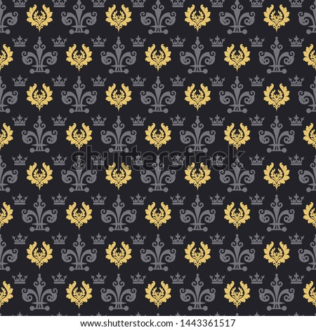Dark background pattern. Retro pattern. Background image. Seamless wallpaper in vintage style. Vector illustration