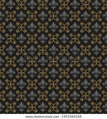 Dark background pattern. Retro pattern. Background image. Seamless wallpaper in vintage style. Vector graphics