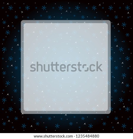 dark background with snowflakes for greeting card