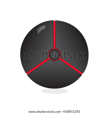 dark ball icon vector pokeball