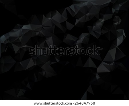 dark black polygonal mosaic