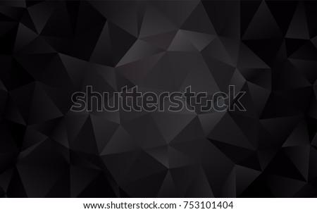 dark black vector abstract