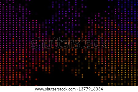 Dark Black vector background with rectangles. Rectangles on abstract background with colorful gradient. The template can be used as a background.