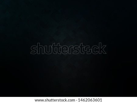 Dark Black vector background with rectangles. Rectangles on abstract background with colorful gradient. Modern template for your landing page.