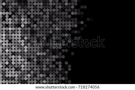 dark black vector pattern with