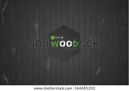 dark black wood texture vector