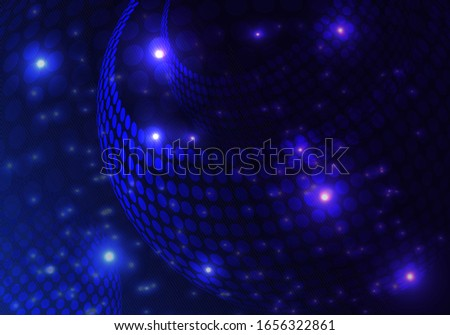 Dark blue abstract circular geometric background. Circular geometric centric motion pattern.Vector illustration for your business design templates. EPS10