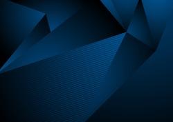 Dark blue abstract concept polygonal tech background. Vector digital art design eps 10