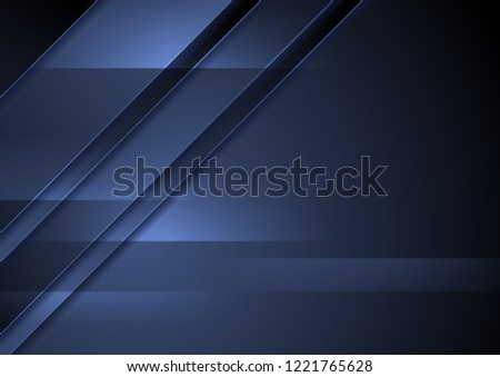 Dark blue abstract corporate material background. Vector design