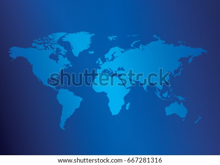 Blue world map background download free vector art stock graphics dark blue background with light blue map of the world vector illustration eps in gumiabroncs Gallery
