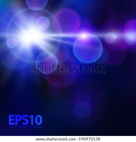 dark blue bokeh background with