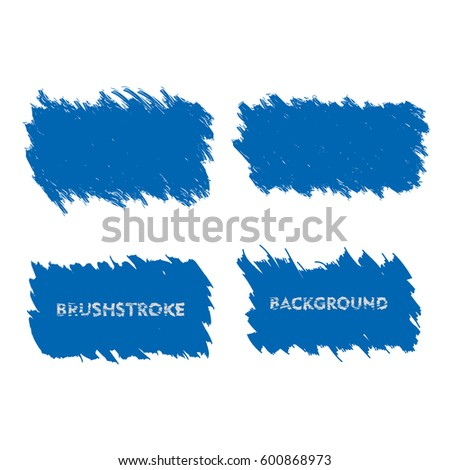 dark blue brush stroke frame