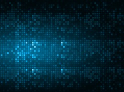 Dark blue color Light Abstract pixels Technology background for computer graphic website internet. circuit board. text box, star