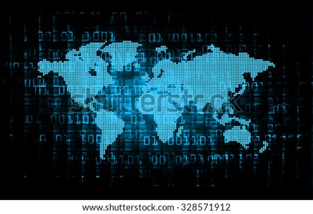 Vector tech map download free vector art stock graphics images dark blue color light abstract technology background for computer graphic website internet and business circuit gumiabroncs Gallery