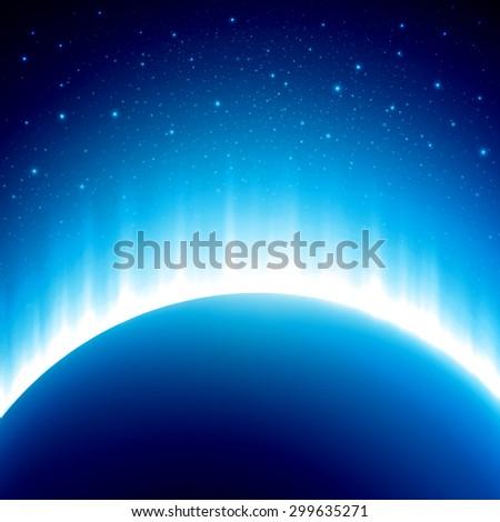 dark blue colored space