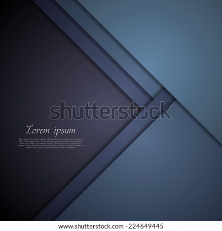 Dark blue corporate tech art. Vector material background