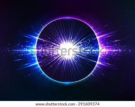 dark blue cosmic explosion