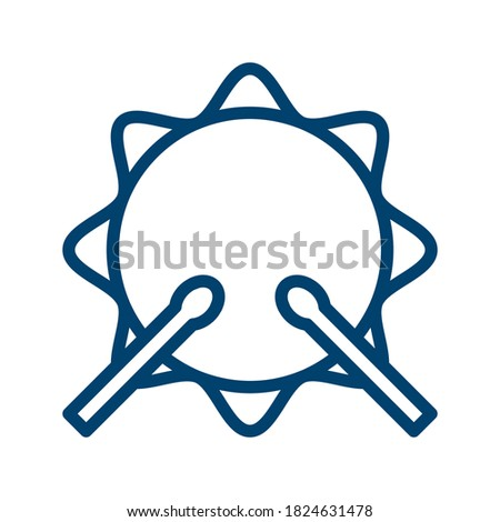 dark blue drum icon design