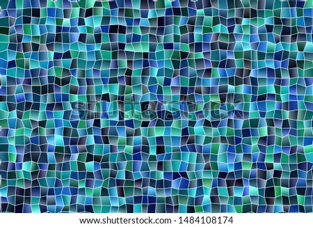 Dark Blue, Green vector layout with lines, rectangles. Rectangles on abstract background with colorful gradient. Pattern can be used for websites.