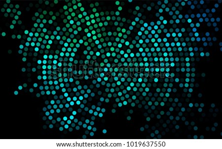 Dark Blue, Green vector red pattern of geometric circles, shapes. Colorful mosaic banner. Geometric background with colored disks.