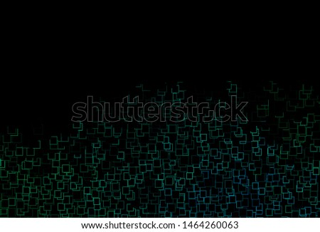 Dark Blue, Green vector template with crystals, rectangles. Rectangles on abstract background with colorful gradient. Best design for your ad, poster, banner.