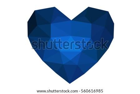dark blue heart isolated on