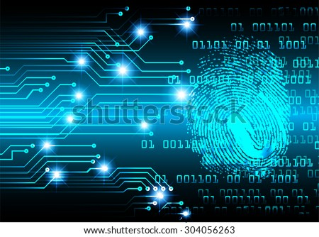 dark blue Light Abstract Technology background for computer graphic website internet web. circuit. illustration. infographics. binary code. www. vector. Spark. motion move blur. Finger-print scan.