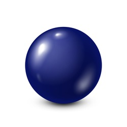 Dark blue lottery, billiard,pool ball. Snooker. White background. Vector illustration.
